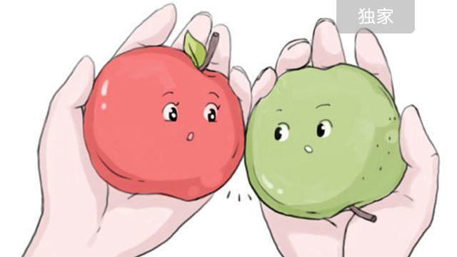 脸红的苹果